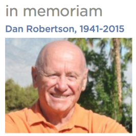 My Husband and Co-Author, Dan Robertson, Died Suddenly